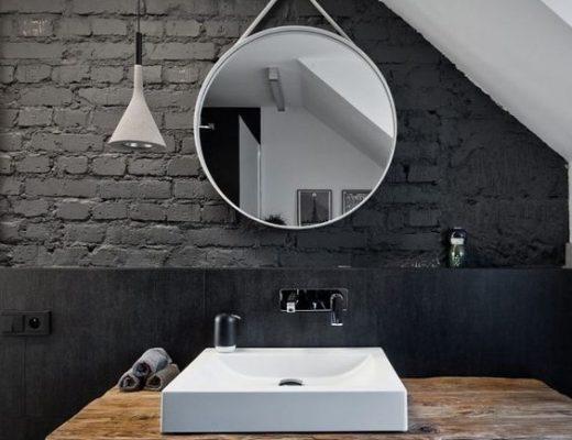 Ronde Spiegel Badkamer : Round golden mirror in the bathroom round gold mirror ronde gouden
