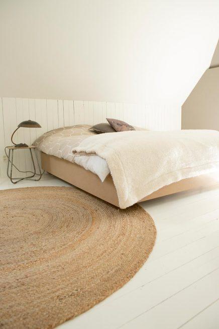 Ronde vloerkleed slaapkamer