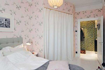 Slaapkamer Grijs Roze : Roze bloemenbehang in de slaapkamer inrichting huis