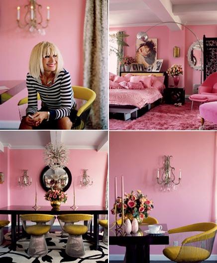 Roze inrichting van het huis van betsey johnson inrichting - Inrichting van het terras ...