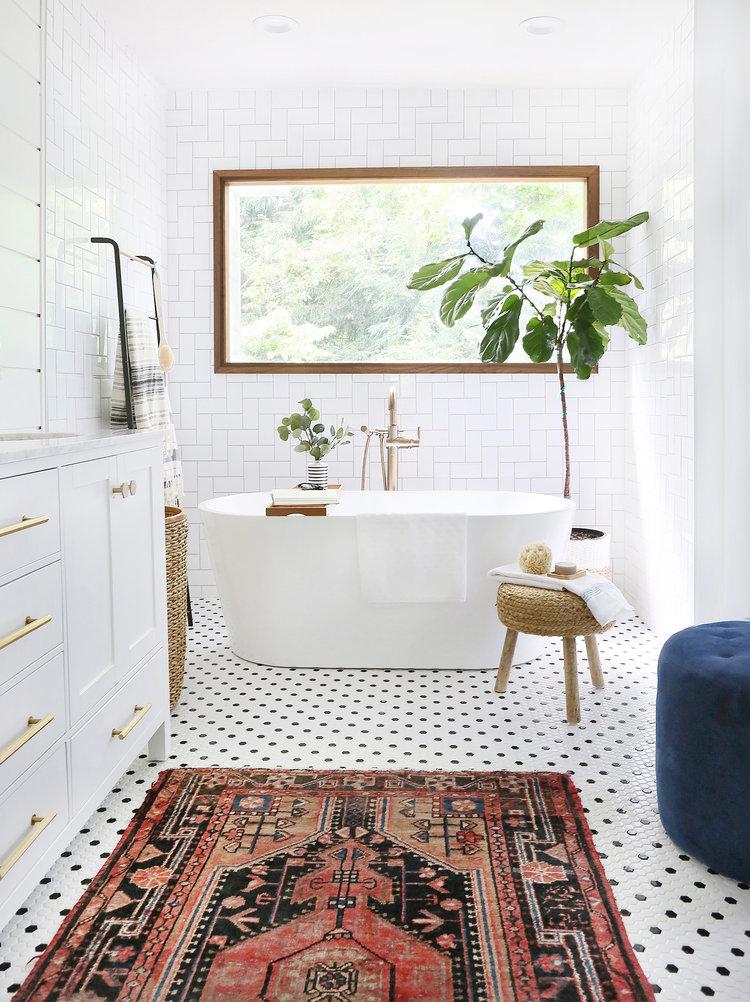 rozenkelim badkamer
