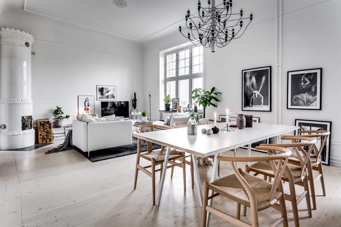 Ruim en licht Scandinavisch appartement met een modern interieur