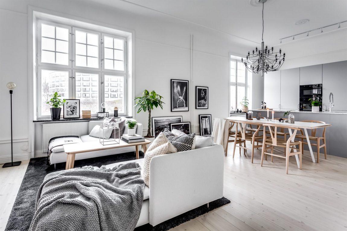 Ruim En Licht Scandinavisch Appartement Met Een Modern