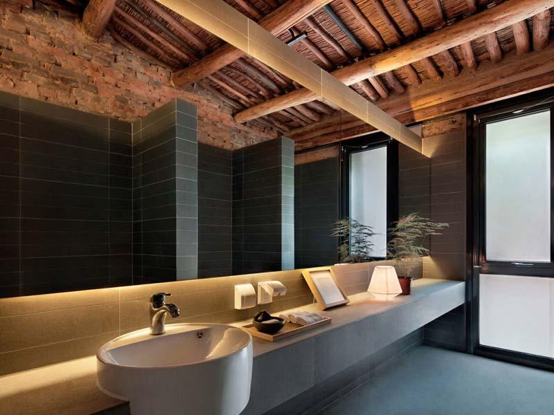 rustiek interieur moderne badkamer