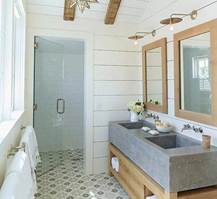 Rustieke badkamer van landelijke woning