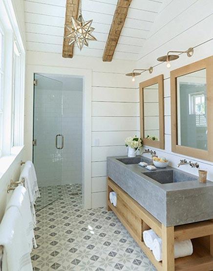 Rustieke badkamer van landelijke woning inrichting - Voorbeeld deco badkamer ...