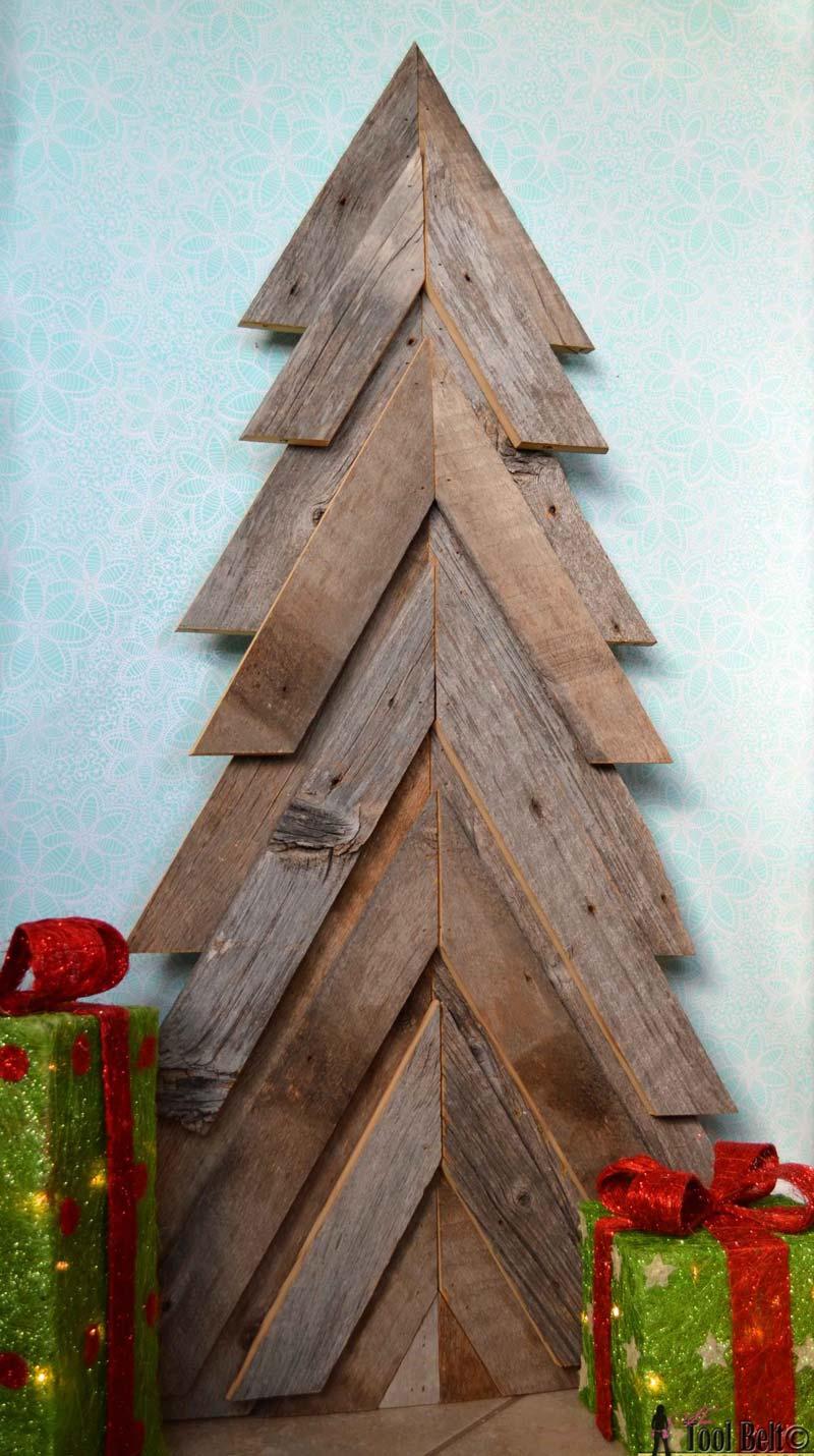 Rustieke houten kerstboom maken