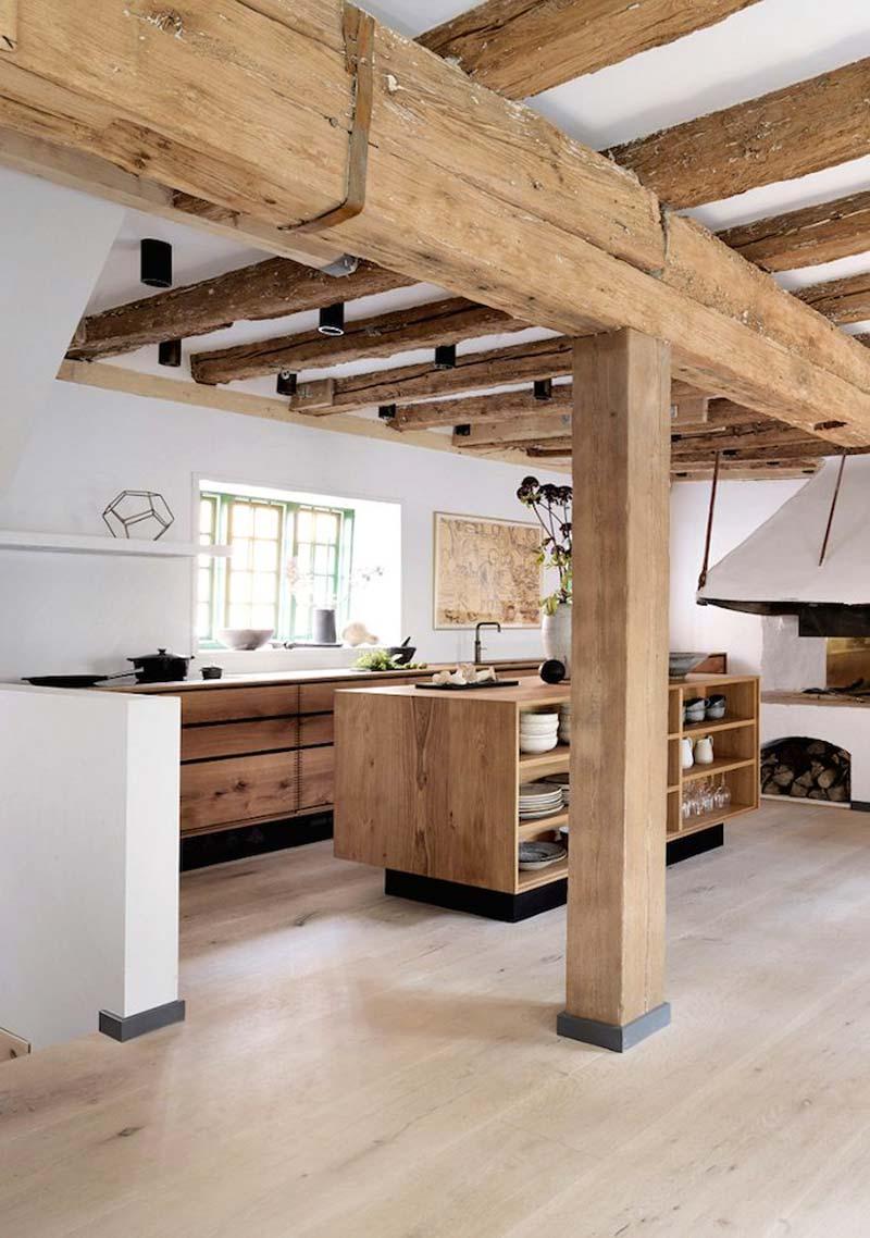 rustieke houten keuken