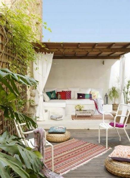 Rustieke interieur met patio in Barcelona