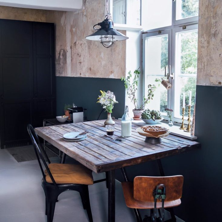 rustieke-vierkante-eettafel-keuken