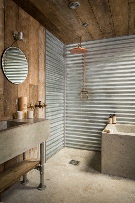 Rustiek vintage badkamer