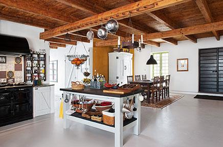 Rustieke Woonkeuken Gietvloer : Rustieke woonkeuken met gietvloer inrichting huis