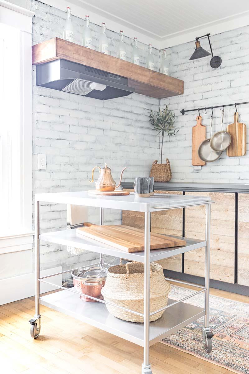 rvs trolley wieltjes keuken