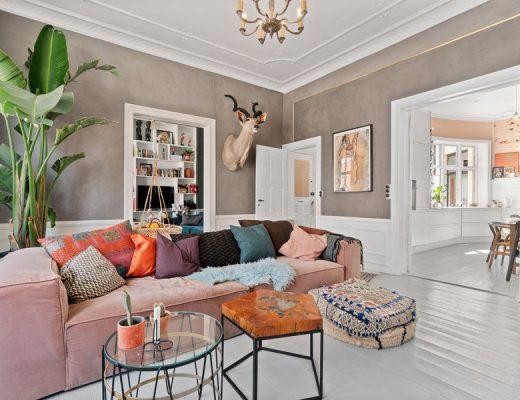 Scandinavisch appartement eclectisch interieur Deense celebritykoppel