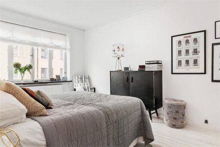 Scandinavische slaapkamer met industriële kasten  Inrichting-huis ...