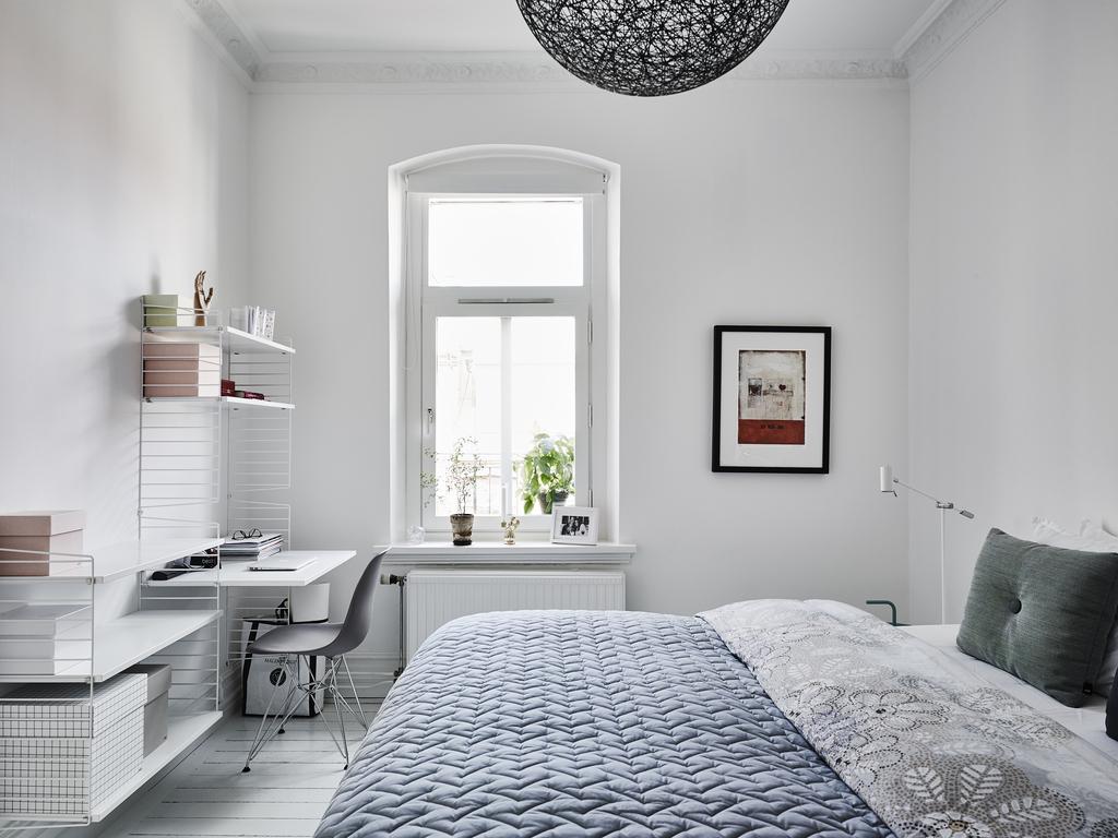 Scandinavische slaapkamer met geweldige meubels inrichting - Huis slaapkamer ...