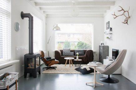 Grijs Interieur Landelijk: Landelijke woonkamer met grijze stoffen ...