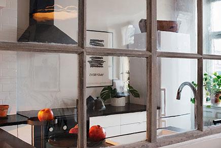 Schattige keuken loft Stockholm