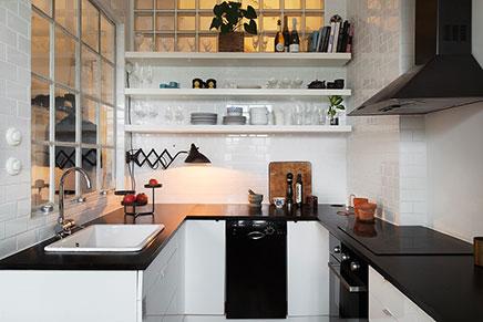 Schattige keuken van kleine loft in stockholm inrichting huis.com