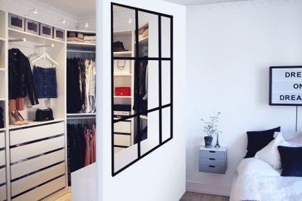 Scheidingsmuur slaapkamer inloopkast