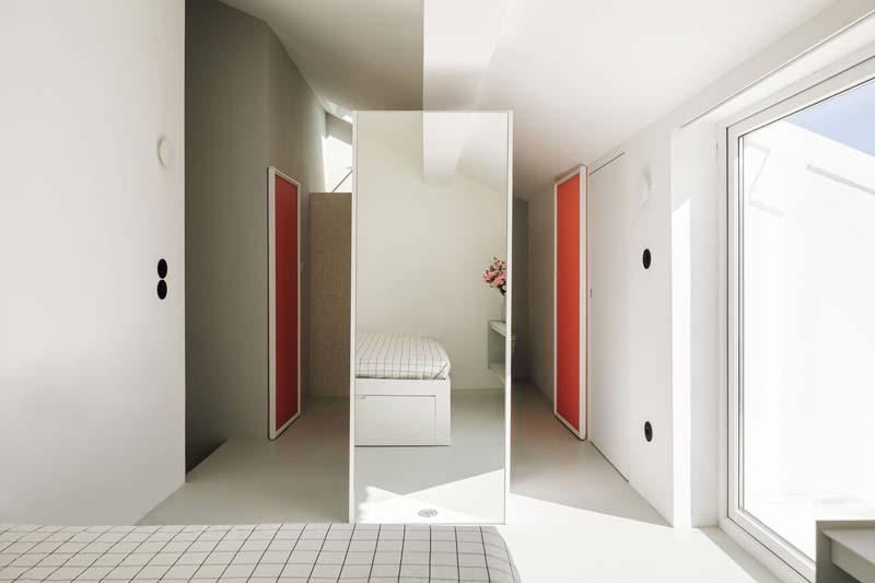Scheidingswand kast slaapkamer badkamer