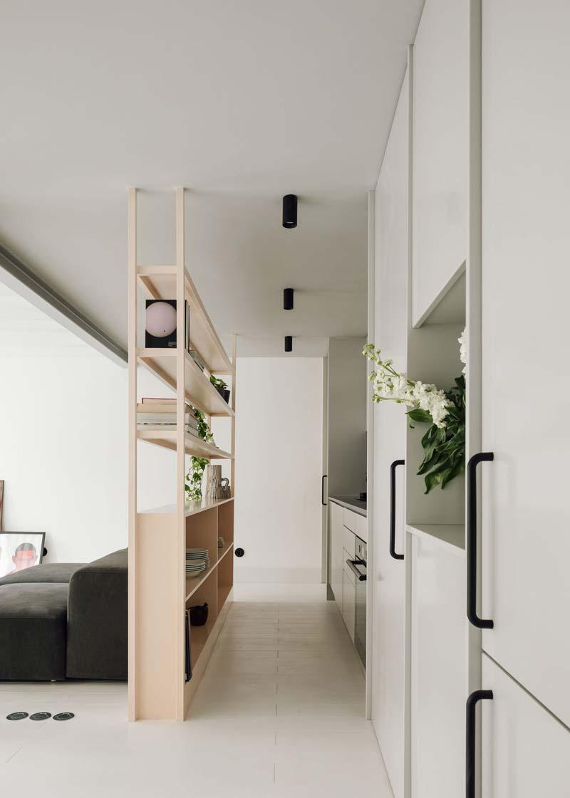 Scheidingswand kast woonkamer open keuken