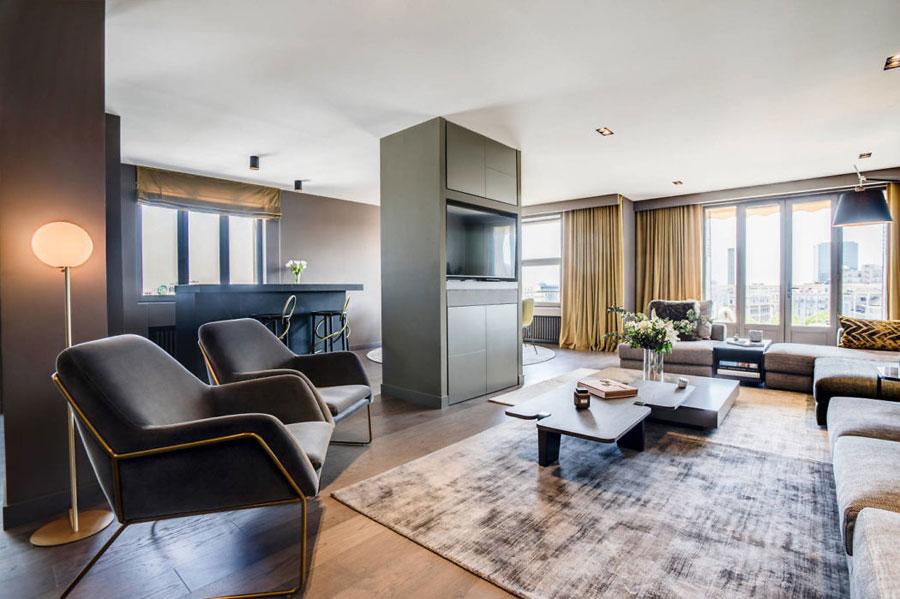 scheidingswand tv meubel open keuken woonkamer