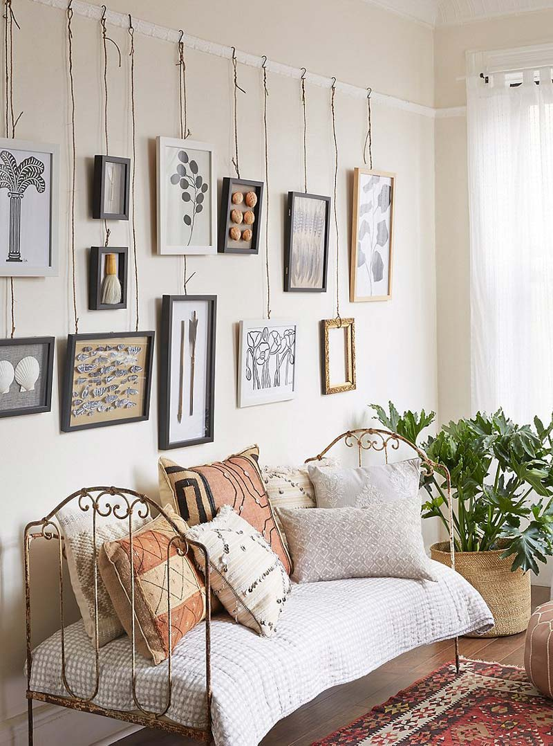 schilderij ophangen zonder boren aan sierlijsten