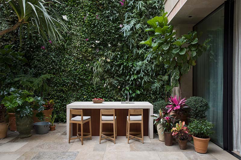 schutting ideeen verticale tuin