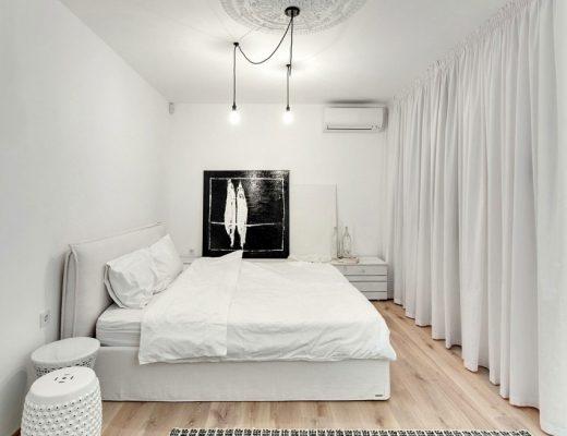 Serene slaapkamers in een Oekraïense villa
