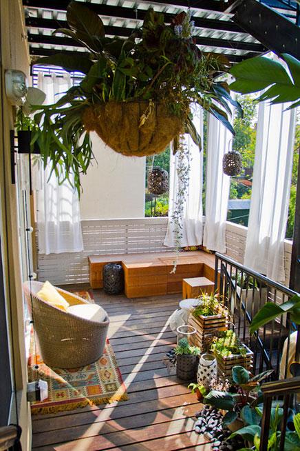 Sfeerloos balkon krijgt tropisch Bali thema