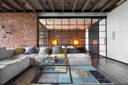 Industriele Loft Woonkamer : Sfeervolle industriële loft slaapkamer inrichting huis.com