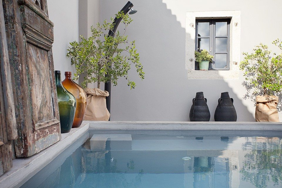 Sfeervolle tuin van Villa Petit