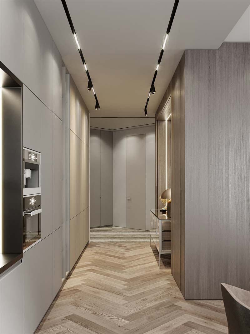 sfeervolle verlichting moderne luxe keuken