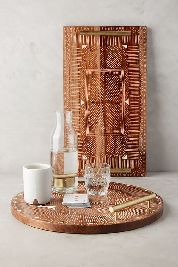 sheesham houten dienblad