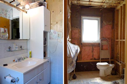 Simpel en elegante badkamer renovatie