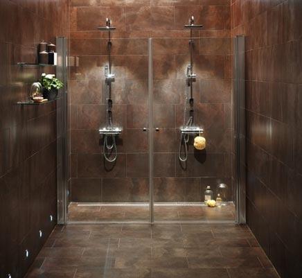 Simpele badkamer met inloopdouche voor 2  Inrichting-huis.com