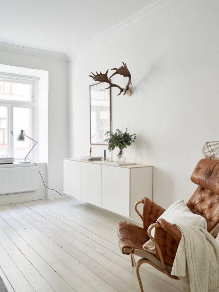 Simpele mooie styling voor de verkoop van Zweeds appartement
