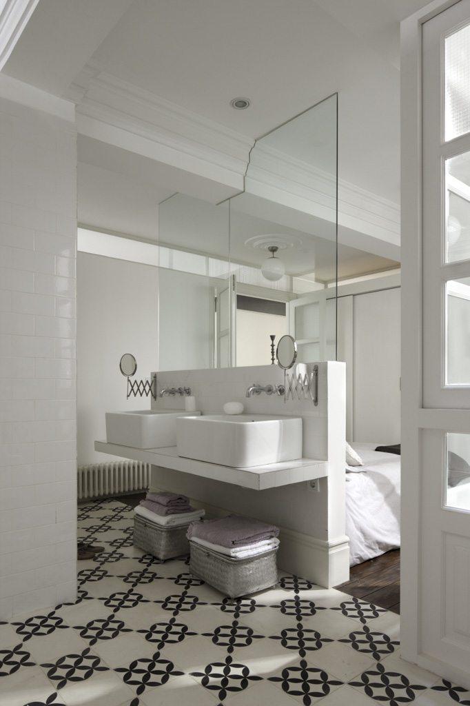 Slaapkamer badkamer combinatie klassiek