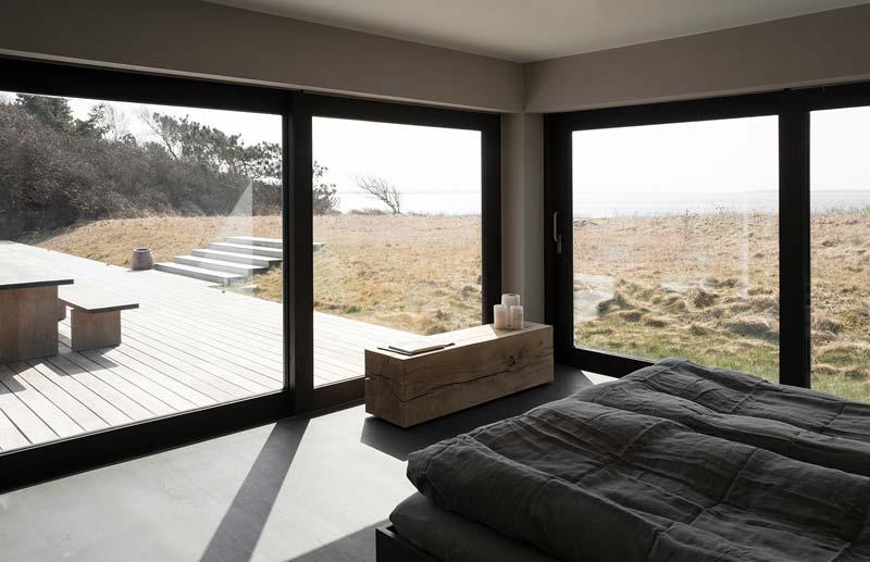 slaapkamer glazen schuifpui