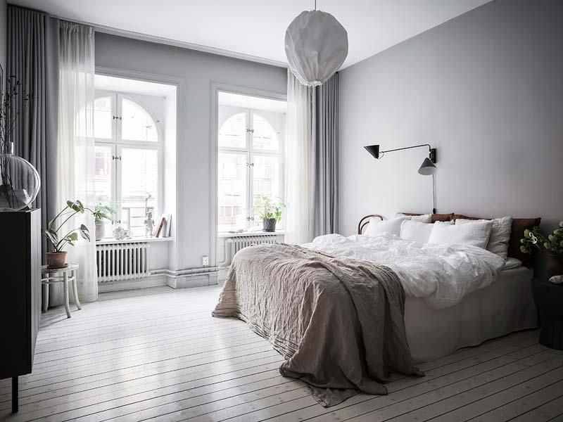 slaapkamer grijze muren