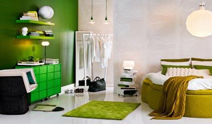 Slaapkamer groen door Sara
