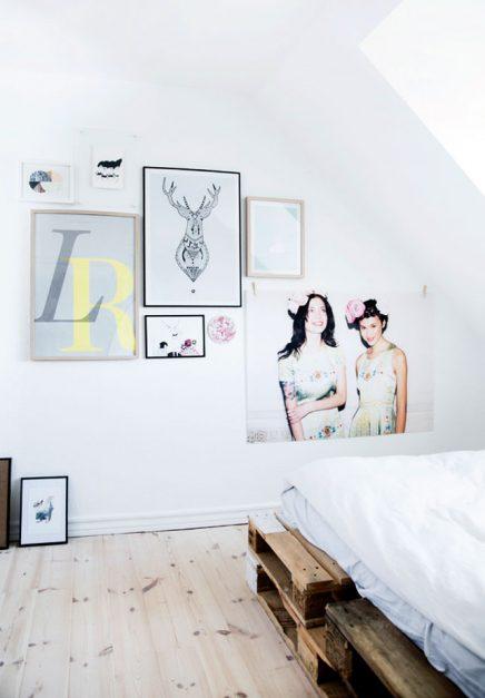 Slaapkamer houten pallets