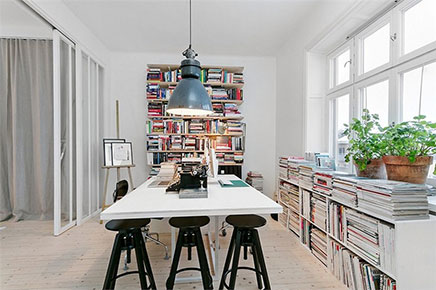 Slaapkamer idee n van stijlvol appartement stockholm inrichting for Home office ideeen