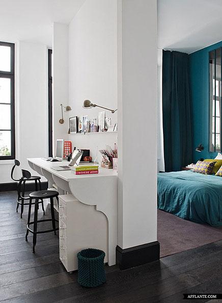 slaapkamer inrichten met badkamer en kantoortje inrichting huis