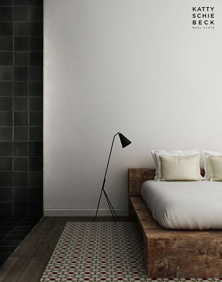 Slaapkamer inrichting met gerecycled hout  Inrichting-huis.com