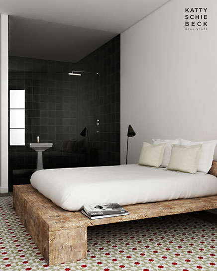 Slaapkamer inrichting met gerecycled hout