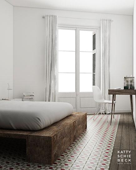 slaapkamer inrichting met gerecycled hout inrichting