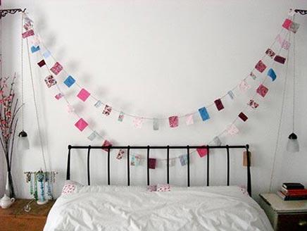Slaapkamer inspiratie met slingers