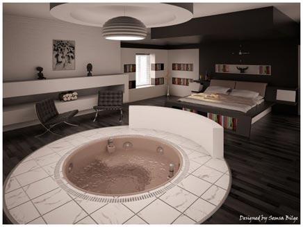 slaapkamer met eigen jacuzzi  inrichtinghuis, Meubels Ideeën
